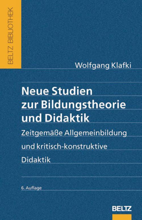 Neue Studien zur Bildungstheorie und Didaktik cover
