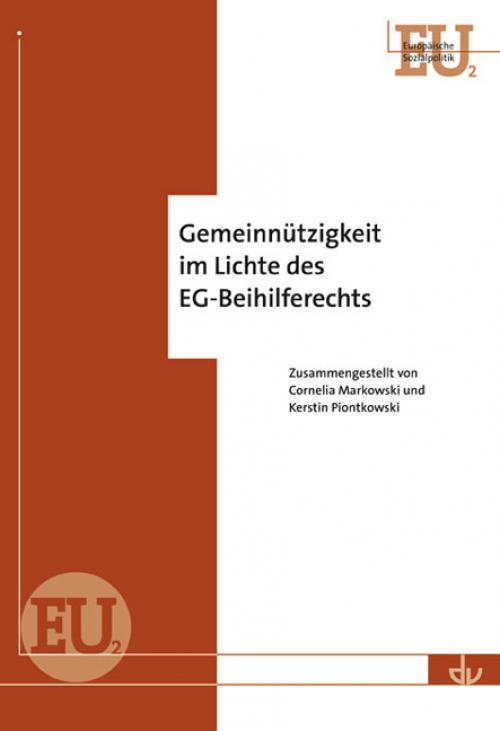 Gemeinnützigkeit im Lichte des EG-Beihilferechts cover