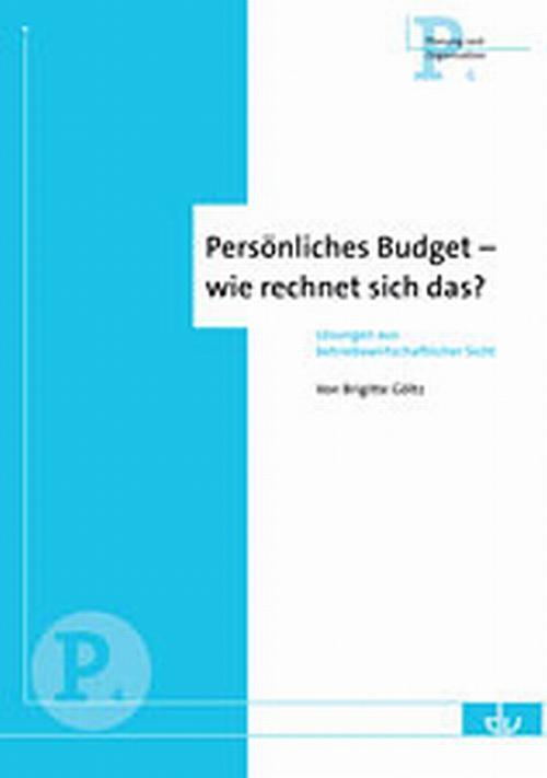 Persönliches Budget - wie rechnet sich das? cover