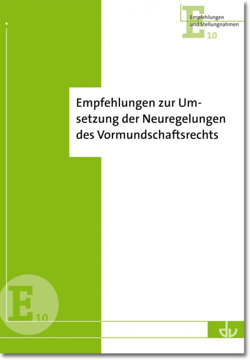 Empfehlungen zur Umsetzung der Neuregelungen des Vormundschaftsrechts cover
