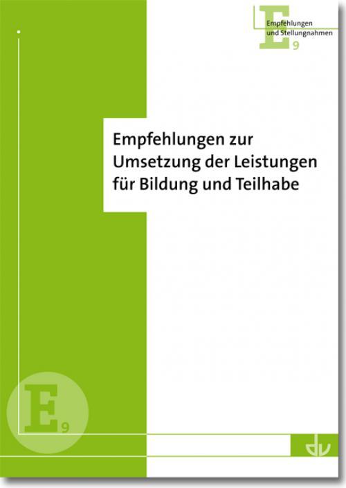 Empfehlungen des DV zur Umsetzung der Leistungen für Bildung und Teilhabe cover