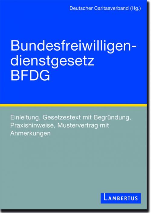 BFDG Bundesfreiwilligendienstgesetz cover