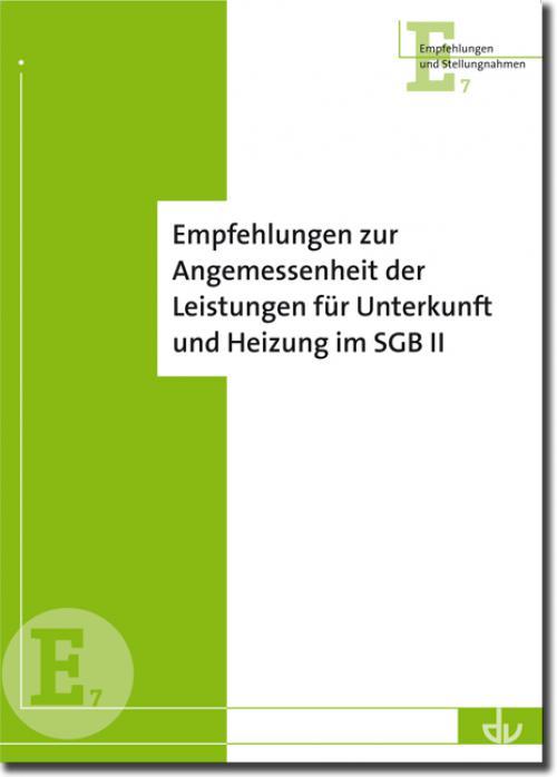 Empfehlungen zur Angemessenheit von Leistungen für Unterkunft und Heizung im SGB II cover