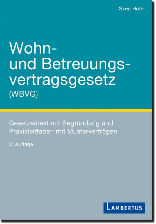 Wohn- und Betreuungsvertragsgesetz (WBVG) cover