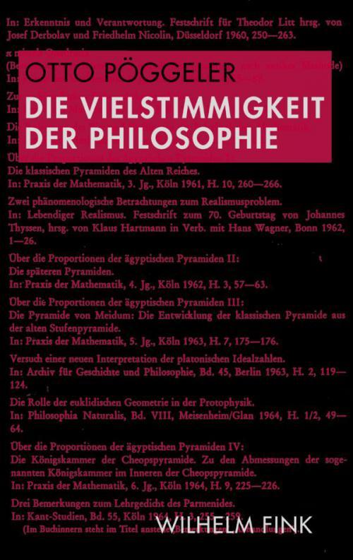 Die Vielstimmigkeit der Philosophie cover