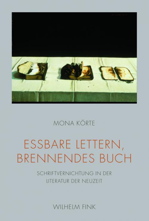Essbare Lettern, brennendes Buch cover