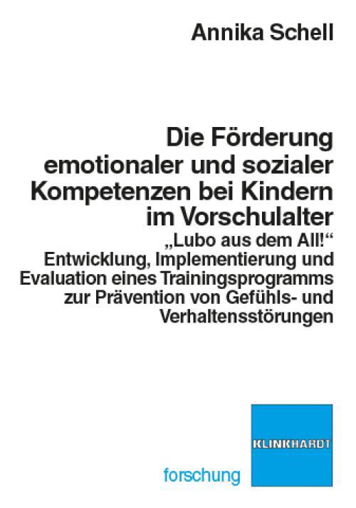 Die Förderung emotionaler und sozialer Kompetenzen im Vorschulalter cover