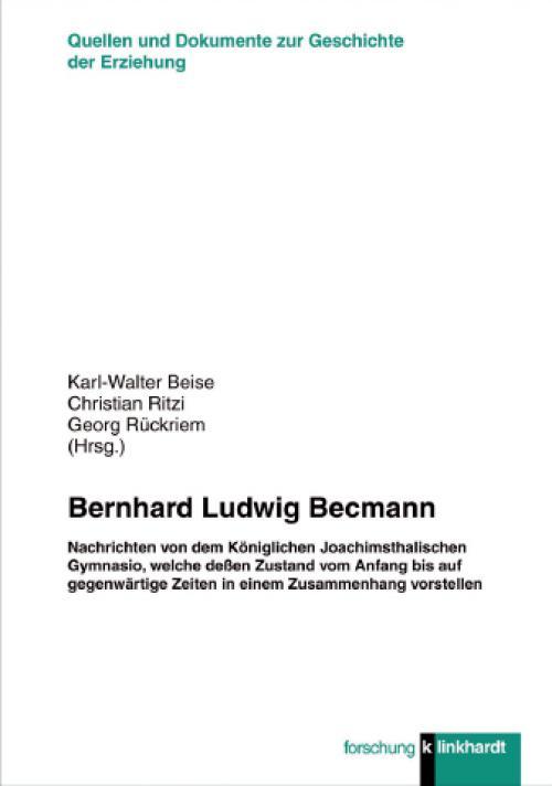 Bernhard Ludwig Becmann cover