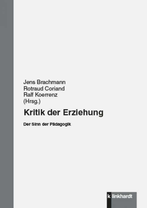 Kritik der Erziehung cover