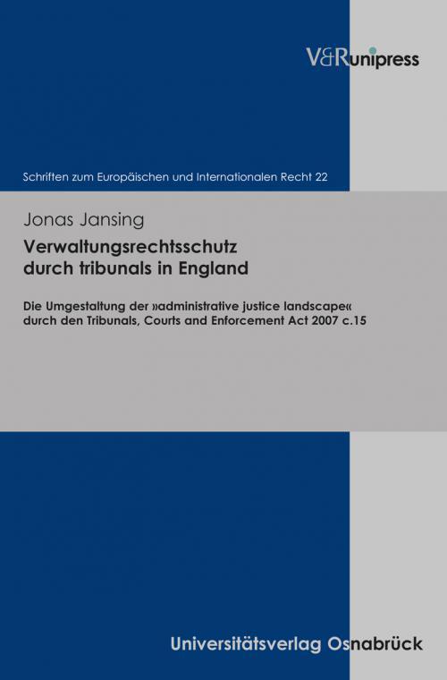 Verwaltungsrechtsschutz durch tribunals in England cover