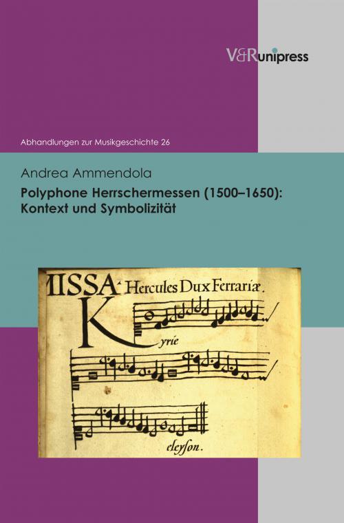 Polyphone Herrschermessen (1500–1650): Kontext und Symbolizität cover