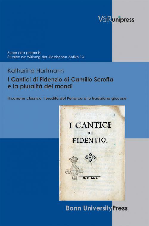 I Cantici di Fidenzio di Camillo Scroffa e la pluralità dei mondi cover