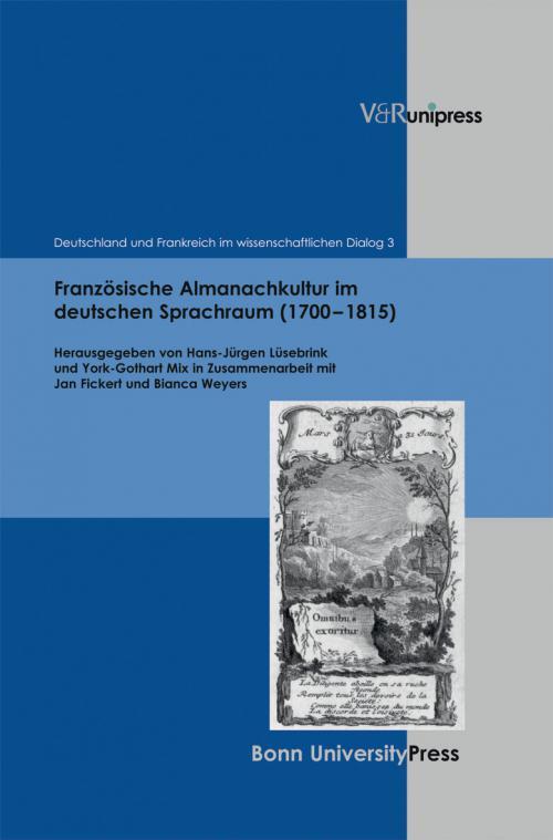Französische Almanachkultur im deutschen Sprachraum (1700–1815) cover