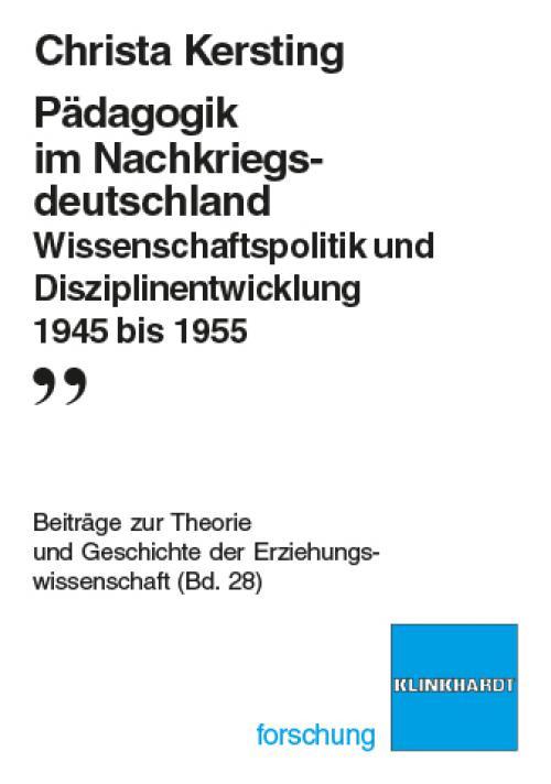 Pädagogik im Nachkriegsdeutschland cover