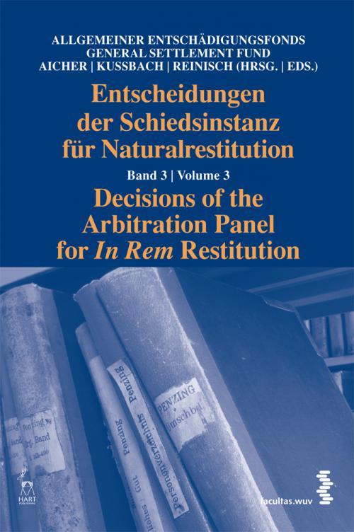 Entscheidungen der Schiedsinstanz für Naturalrestitution cover