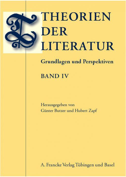 Theorien der Literatur 4 cover