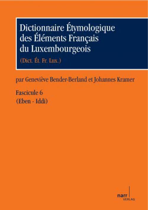 Dictionnaire Étymologique des Éléments Français du Luxembourgeois cover