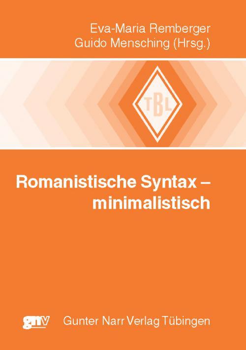 Romanistische Syntax - minimalistisch cover