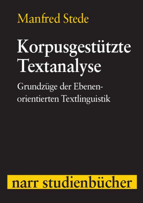 Korpusgestützte Textanalyse cover