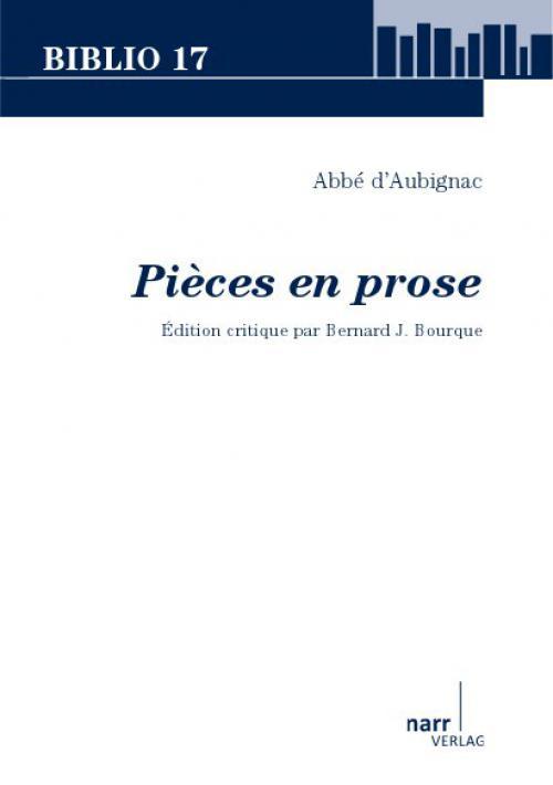 Abbé d'Aubignac: Pièces en prose cover