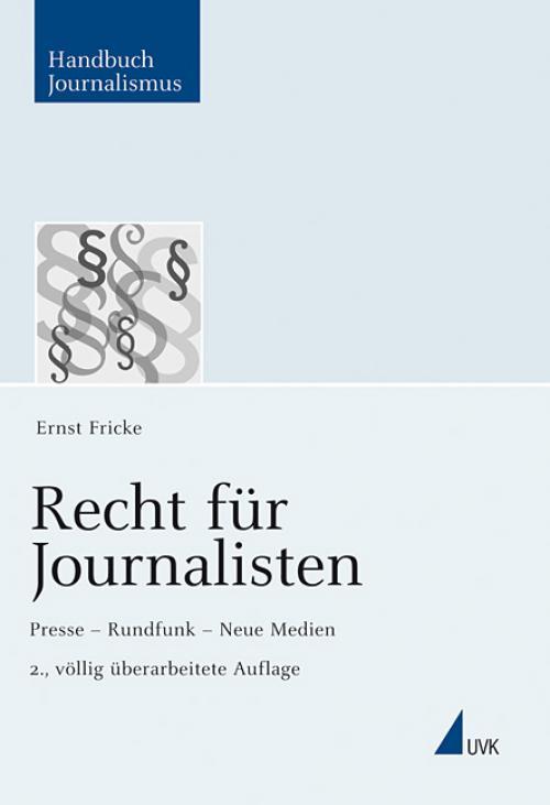 Recht für Journalisten cover