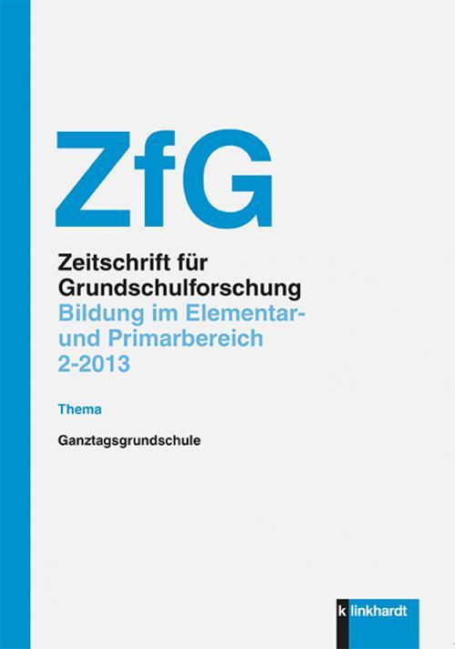 ZfG - Bildung im Elementar- und Primarbereich - Ganztagsgrundschule cover
