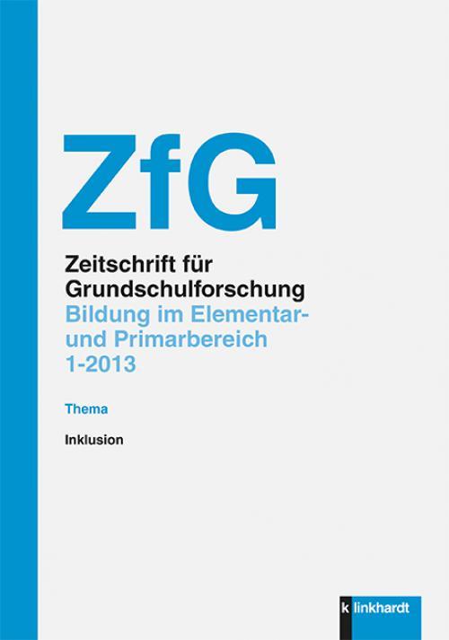 ZfG - Bildung im Elementar- und Primarbereich - Inklusion cover