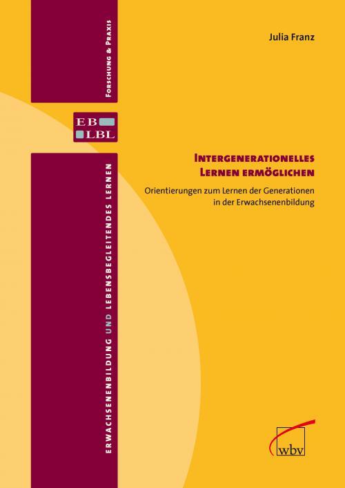 Intergenerationelles Lernen ermöglichen cover