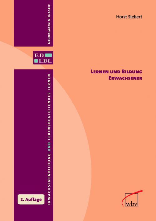 Lernen und Bildung Erwachsener cover