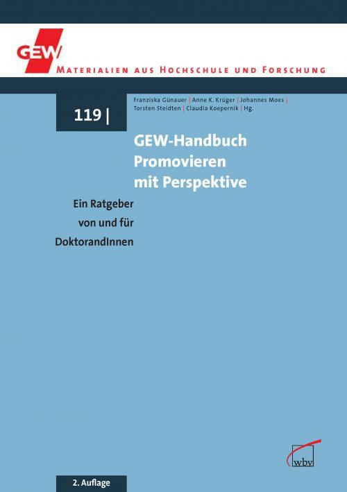 GEW-Handbuch Promovieren mit Perspektive cover