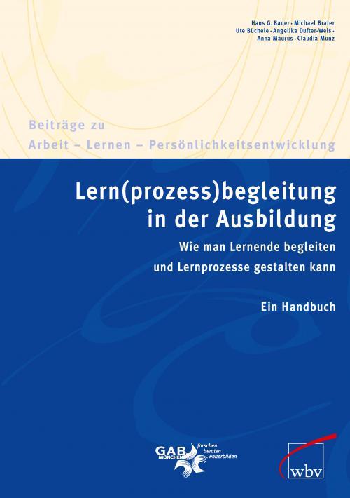 Lern(prozess)begleitung in der Ausbildung cover