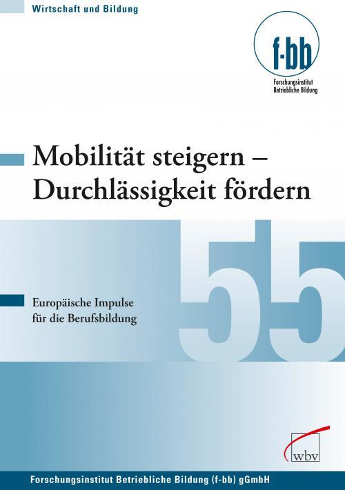 Mobilität steigern - Durchlässigkeit fördern cover