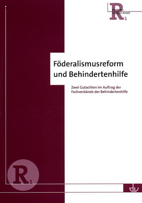 Föderalismusreform und Behindertenhilfe cover