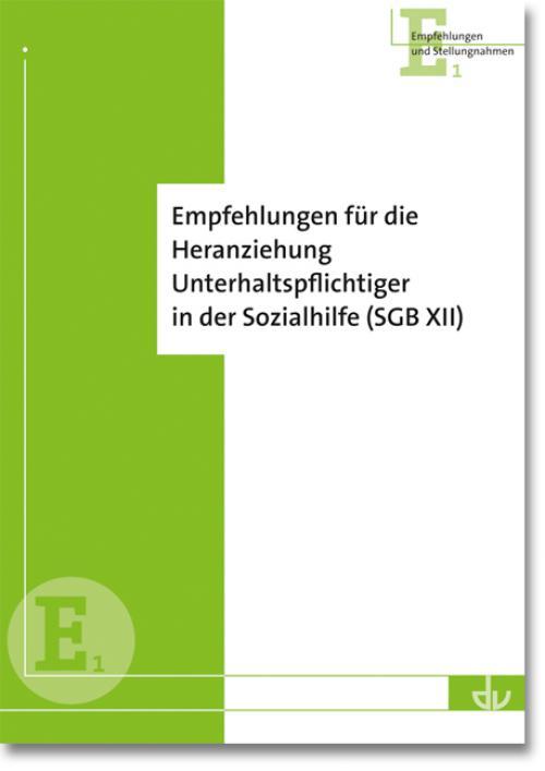 Empfehlungen für die Heranziehung Unterhaltspflichtiger in der Sozialhilfe (SGB XII) cover
