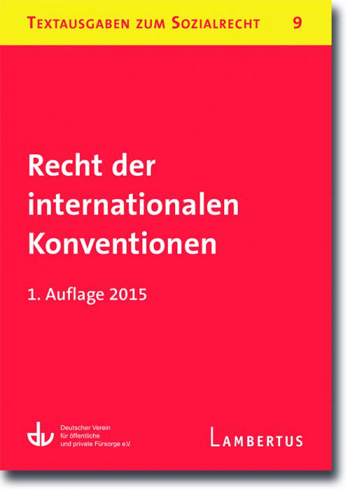 Recht der internationalen Konventionen cover
