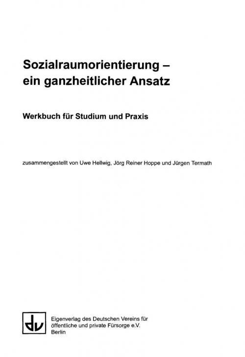 Sozialraumorientierung - ein ganzheitlicher Ansatz cover