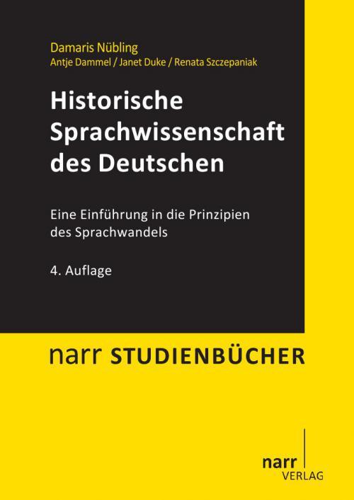 Historische Sprachwissenschaft des Deutschen cover