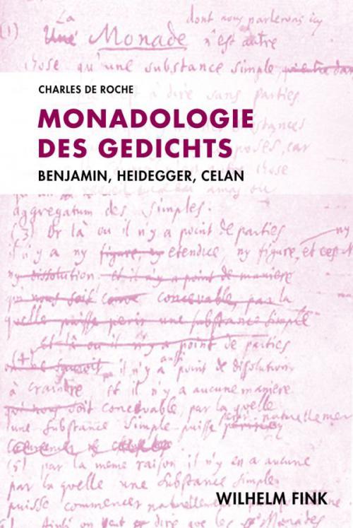 Monadologie des Gedichts cover