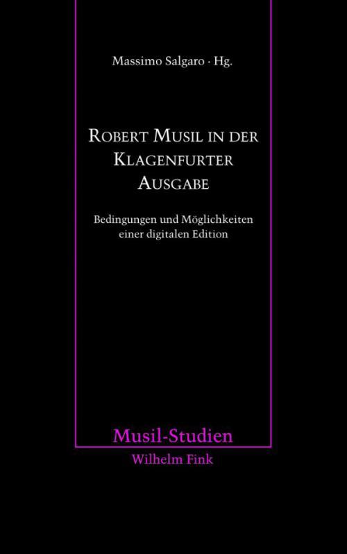 Robert Musil in der Klagenfurter Ausgabe cover