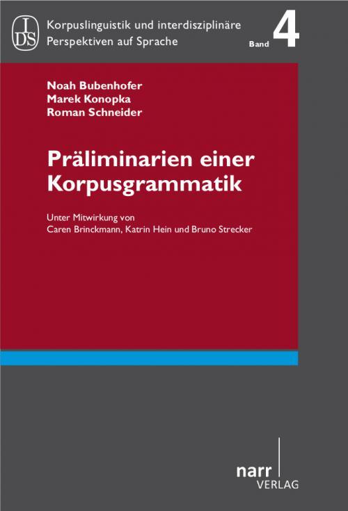 Präliminarien einer Korpusgrammatik cover