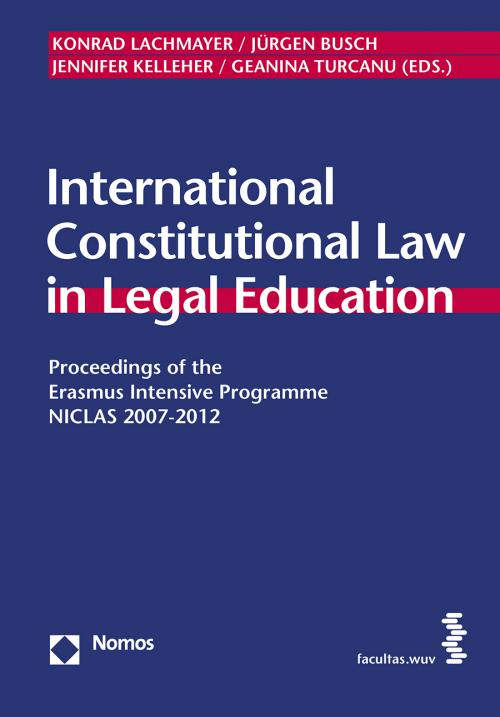 International Constitutional Law in Legal Education cover