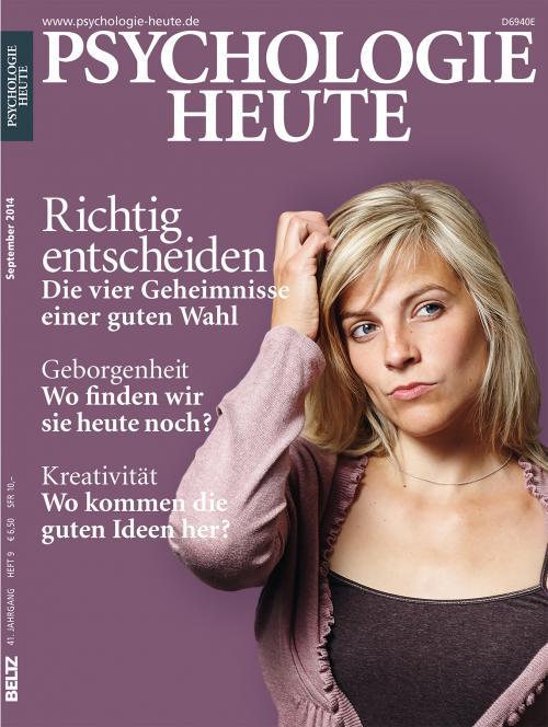 Psychologie Heute 9/2014 cover
