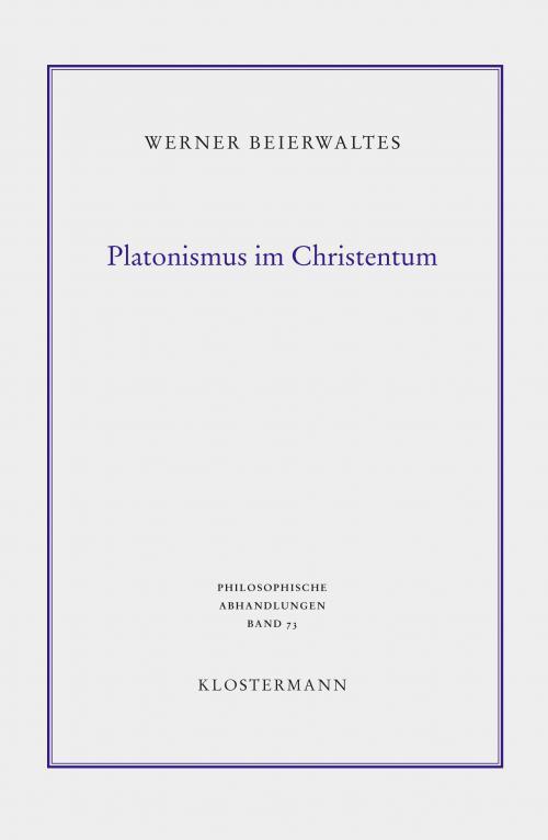 Platonismus im Christentum cover