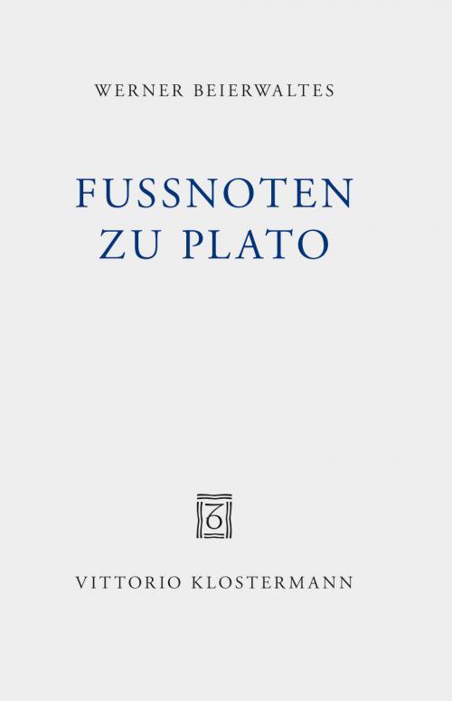 Fußnoten zu Plato cover