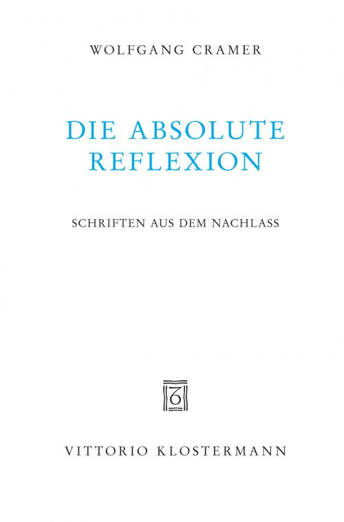 Die absolute Reflexion cover