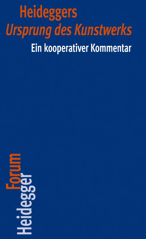 Heideggers Ursprung des Kunstwerkes cover