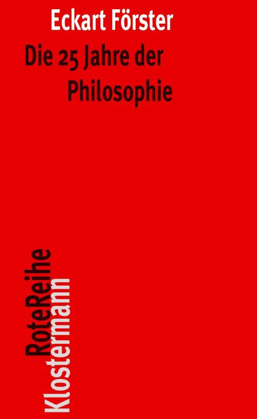 Die 25 Jahre der Philosophie cover