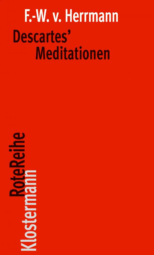 Descartes´ Meditationen cover