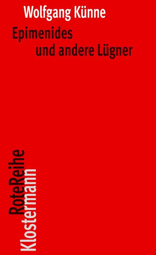 Epimenides und andere Lügner cover