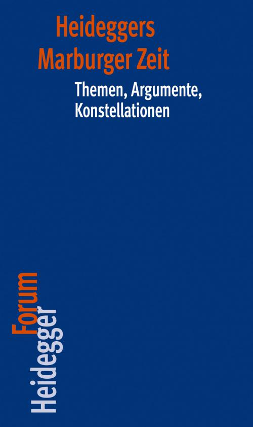 Heideggers Marburger Zeit cover